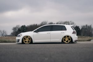 Mk7 VW GTI with the Perfect Stance and Radi8 Wheels